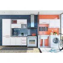 Conjunto Cozinha 3 Peças e Área de Serviço 2 Peças Branco - Albatroz móveis