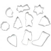 Conjunto de 10 cortadores de biscoitos variados - Fackelmann