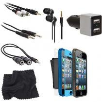 Conjunto de 12 acessórios para iPhone 5 / 5S e iPhone SE ISOUND5312 Isound -