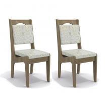 Conjunto de 2 Cadeiras Madhul Linho Folhas verdes - Kappesberg