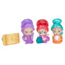 Conjunto de 3 Mini Bonecas com Anel - Shimmer e Shine - Tapete Mágico - 3 - Fisher-Price - Fisher price