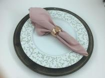 Conjunto de 4 Anéis para Guardanapo na cor Bronze - Mimo ltda