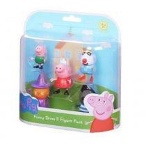 Conjunto de 5 Figuras Amigos da Peppa Pig dtc -