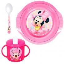 Conjunto de Alimentação - 3 Peças - Disney - Minnie Mouse - New Toys -