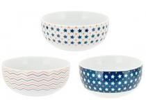 Conjunto de Bowls de Porcelana 3 Peças - Casambiente Mustache