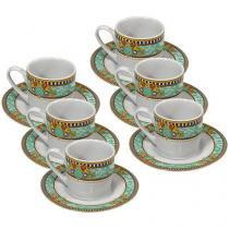 Conjunto de Café Porcelana 6 Peças - Hauskraft Madrid JGXC-009