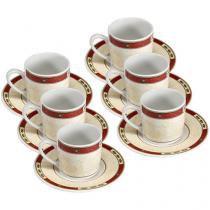 Conjunto de Café Porcelana 6 Peças - Hauskraft Ruby JGXC-004