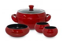 Conjunto de cerâmica ceraflame para feijoada 4 pcs - pomodoro -