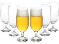 Conjunto de Copos de Vidro para Cerveja 6 Peças - 300ml Nadir Floripa 7732