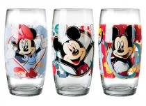 Conjunto de Copos Long Drink 430 ml Decorado Disney Turma do Mickey (3 unidades) Nadir - NAF 371 -