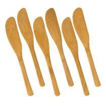 Conjunto de Espátulas Utility 6 Peças Bambu Welf -