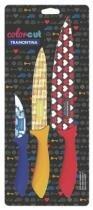 Conjunto de Facas 3 Peças Color Cut Azul Amarela e Vermelha 23099-931 Tramontina - Tramontina