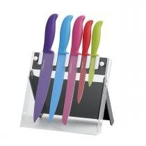 Conjunto de Facas Farberware Antiaderente Multicolor - 6 Peças -