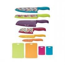 Conjunto de Facas Farberware Multicolor 16 Peças - Global -