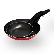 Conjunto de Frigideiras Garlic 2 Peças Alumínio Vermelha 7011/005 - Brinox - Brinox