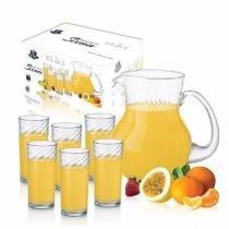Conjunto de jarras e copos para suco siena 7pç menor preço - Ruvolo
