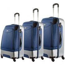 Conjunto de Malas 3 Peças Travel Max - LS330 Azul Marinho