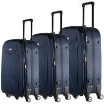 Conjunto de Malas 3 Peças Travel Max - MB-LM333 Azul Marinho