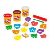 Conjunto de Massas de Modelar - Super Massa - Cookies Divertidos - Estrela - Estrela
