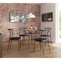 Conjunto de Mesa 4 Cadeiras Contemporânea - Móveis Carraro