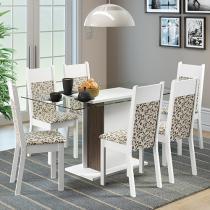 Conjunto de Mesa 6 Cadeiras Madesa - Monique