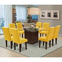Conjunto de Mesa 8 Cadeiras Movale - Vegas