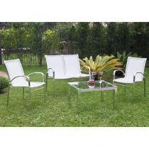 Conjunto de Mesa Alumínio 3 Cadeiras - Alegro Móveis ACJMC111320