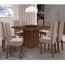 Conjunto de Mesa Armonia com 8 cadeiras - Madeiro TX - Dj Móveis