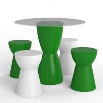 Conjunto de mesa com 4 bancos garden i verde - Im in