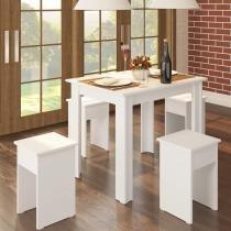 Conjunto de Mesa com 4 Banquetas Casamia Branco -