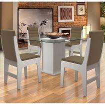 Conjunto de Mesa com 4 Cadeiras Dobuê Movelaria Amsterdam