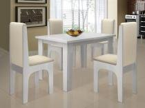 Conjunto de Mesa com 4 Cadeiras - Dobuê Movelaria Miami