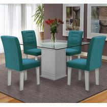 Conjunto de Mesa com 4 Cadeiras - Dobuê Movelaria Vegas