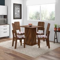 Conjunto de Mesa com 4 Cadeiras Estofadas - Dj Móveis Juliana