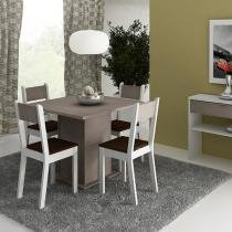 Conjunto de Mesa com 4 Cadeiras Estofadas Madesa - Styllus