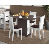 Conjunto de Mesa com 4 Cadeiras Estofadas - Madesa Valkíria
