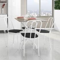 Conjunto de Mesa com 4 Cadeiras Metalmix - Jade/Lyon