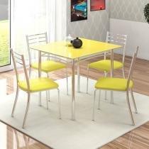 Conjunto de Mesa com 4 Cadeiras - Mobisul Alasca