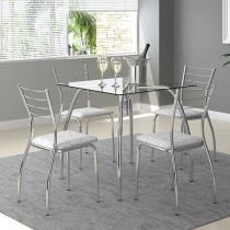 Conjunto de Mesa com 4 Cadeiras - Móveis Carraro Casual