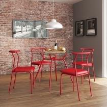 Conjunto de Mesa com 4 Cadeiras - Móveis Carraro Paris