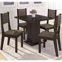Conjunto de Mesa com 4 Cadeiras Somopar - Alice