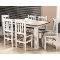 Conjunto de Mesa com 6 Cadeiras 152/09 Branco Sarturini - Zamarchi