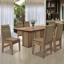 Conjunto de Mesa com 6 Cadeiras Amsterdam - Movale