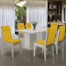 Conjunto de Mesa com 6 Cadeiras - Dobuê Movelaria Amsterdam