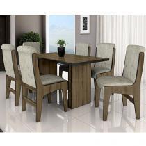 Conjunto de Mesa com 6 Cadeiras Dobuê Movelaria - Canadá
