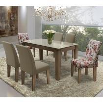Conjunto de Mesa com 6 Cadeiras - Dobuê Movelaria Siena