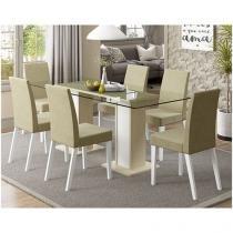 Conjunto de Mesa com 6 Cadeiras Madesa - Marina