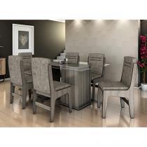 Conjunto de Mesa com 6 Cadeiras Movale - Amsterdam