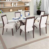 Conjunto de Mesa com 6 Cadeiras Raissa - Matrezan