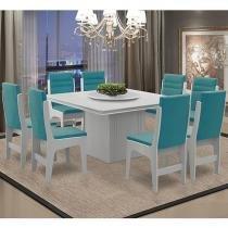 Conjunto de Mesa com 8 Cadeiras - Dobuê Movelaria Amsterdam